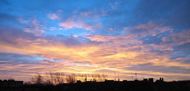 Styczniowe niebo #panorama #niebo