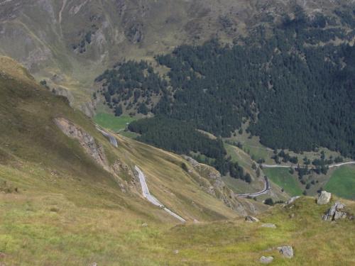 Zjeżdżamy z przełęczy Timmelsjoch #Timmelsjoch