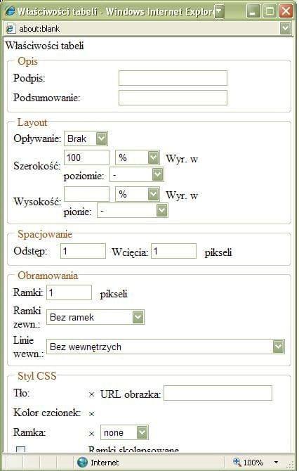Bad size of Xinha Table Properties popup window in IE7