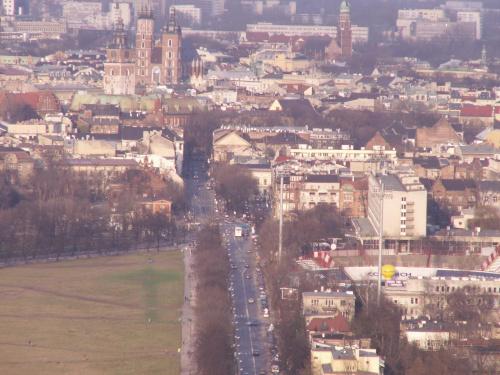 Kopiec Kościuszki Kraków 1-04-2006 #kopiec #kościuszki #widoki #błonia